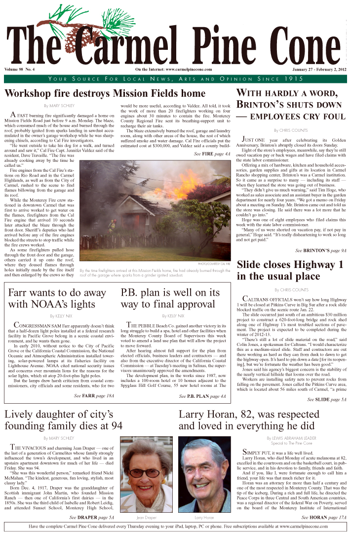 Click here to download the January 27, 2012, main news section