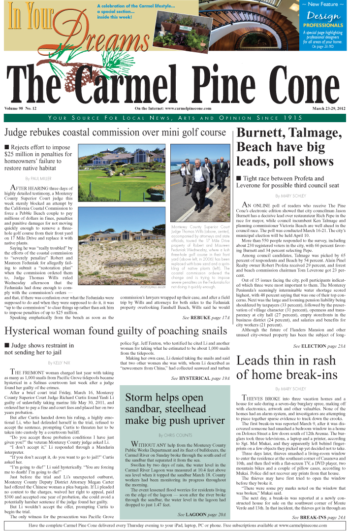 Click here to download the March 23, 2012, main news section