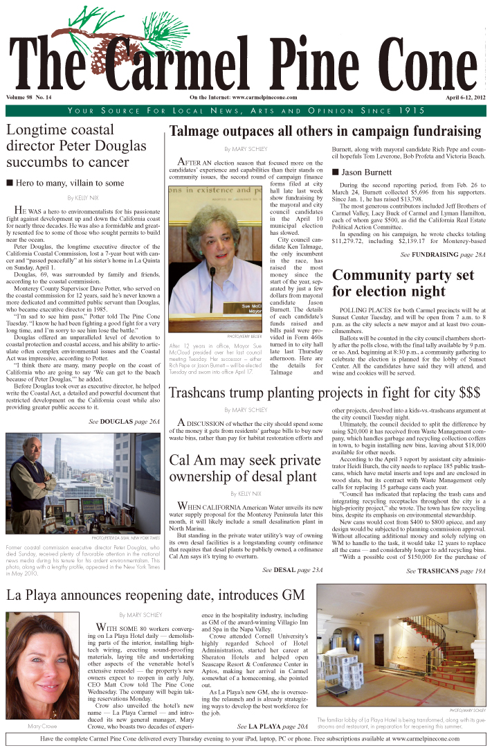 Click here to download the April 6, 2012, main news section