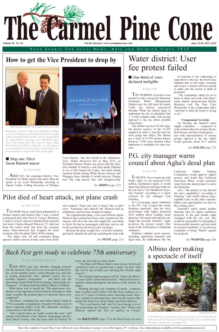 Click here to                 download the June 22, 2012, main news section